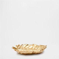 DECORATIEF DIENBLAD MET GOUDKLEURIG BLAD - Accessoire Decoratie - Decoratie - HOME COLLECTION AW16 | Zara Home Holland