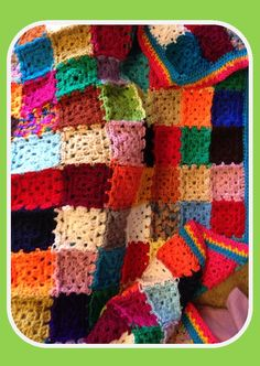 Rainbow Granny Blanket - used up a heap of double knit yarns!