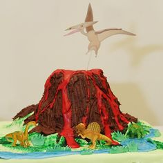 this is Finn's favorite.  He likes the pterodactyl and it has good texture and random lava flows