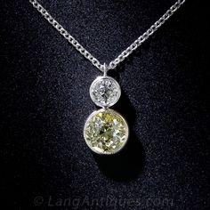 .85 Carat Fancy Yellow Old Mine Cut Diamond