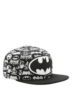 DC Comics Batman Logo Collage Snapback Hat   Hot Topic