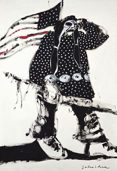 Example: Fritz Scholder, Mad Indian No. 3, 1970, Oil on canvas. [Can be used to discuss symbol and metaphor.]