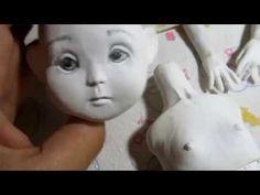 Авторская кукла, мастер класс, лепные части - YouTube