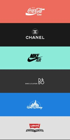 Responsive Logo Designs: Chanel, Coca Cola, Nike Air, Bang & Olufsen, Disney
