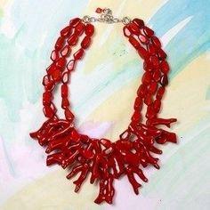red coral necklace, furbish