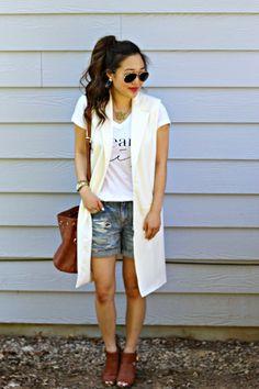 { white vest for summer // @windsorstore }
