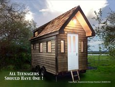 A portable house, office, studio, study, guest room, garden pod.... on wheels. No planning permission needed (its on wheels).