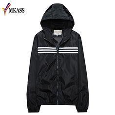 >> Click to Buy << Spring Autumn Thin Jacket Men New 2017 Fashion Hoodie Windbreaker Unisex Collage Jackets Baseball Fitness Luxury Plaid Male Coat #Affiliate