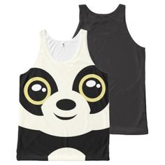 #black - #Little panda All-Over-Print tank top