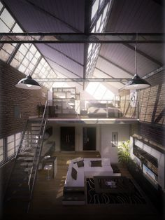 There are lofts and then there are beautiful lofts. Lofts, Industrial House, Industrial Interiors, Interior Architecture, Interior And Exterior, Chinese Architecture, Interior Design, Architecture Details, Loft Design