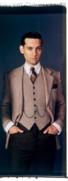 The Great Gatsby Vintage Fashion . Wish hubby would let me dress him up like this !!!
