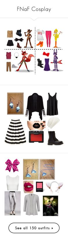 """""""FNaF Cosplay"""" by dappershadow ❤ liked on Polyvore featuring J Brand, Gucci, Paul Smith, Dr. Martens, MANGO, Ally Fashion, Converse, Masquerade, Diane Von Furstenberg and Italia Independent"""