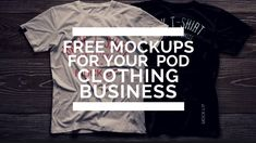 FREE Photoshop PSD Mockups For Your Print On Demand Clothing Business