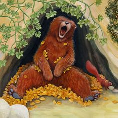 gifs ours pandas koalas - Page 13 Children's Book Illustration, Illustrations, Teddy Bear Cartoon, Casual Art, Wildlife Paintings, Love Bear, Gif Animé, Forest Friends, Bear Art