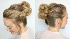 Double Lace Braid High Bun | Missy Sue - YouTube