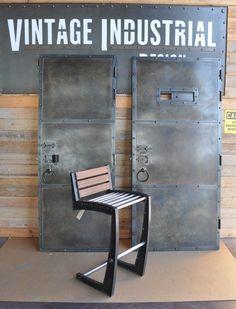 Custom zinc finish doors and Zen chair by Vintage Industrial in Phoenix...