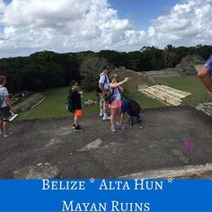 Hello from the last climb at  #altahun #MayanRuins #Belize the view is great, the sides have no rails, no nets,  you are just up there wide open! OMG was I scared. I sat down on my butt and slid to the down steps which were a nightmare to get down. I held onto my husband and tried not to look, but wait till you see what we saw at the end of the climb. #travelblog #TravelBlogger #familyvacation #Destination