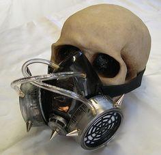 ASLAK Stampunk Mask Postapocalyptic Half-mask Goggles-mask Wasteland Burning Man Festival Carnevale