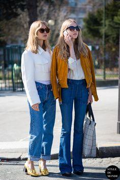 Paris Fashion Week FW 2015 Street Style: Pernille Teisbaek and Alexandra Carl