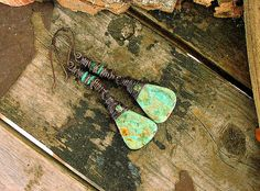 Ladies Chinese Turquoise Earrings by Mojowoman on Etsy