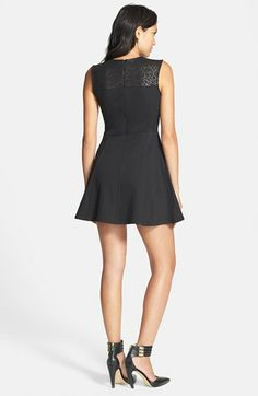 Collective Concepts Lace Inset Fit & Flare Dress | Nordstrom