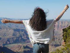Blouse à pompons Babou au Grand Canyon !