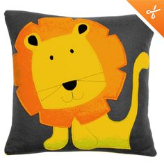 felt lion cushion £39 SO CUTE! I would do tiger.