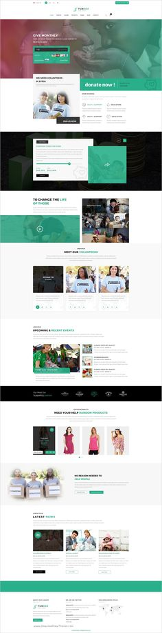 FunDuz is a clean, modern and stylish #PSD #template for - profit template