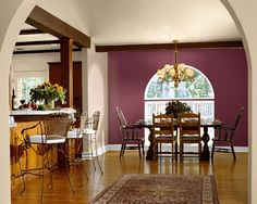 Dining Room Paint Color Ideas and Inspiration Gallery Dining Room Paint Colors, Living Room Paint, Living Room Kitchen, Dining Rooms, Orange Dining Room, Burnt Orange Living Room, Kitchen Paint, Dining Area, Orange Paint Colors