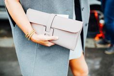 #StreetStyle details: Hermes clutch