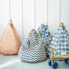 Amely Bean Bags, Designed by Nobodinoz