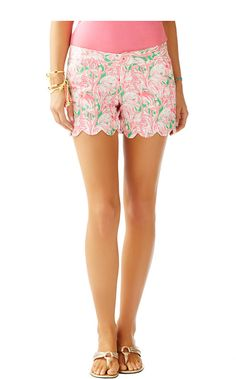 "5"" Buttercup Scallop Hem Short - Lilly Pulitzer in Pink Colony"