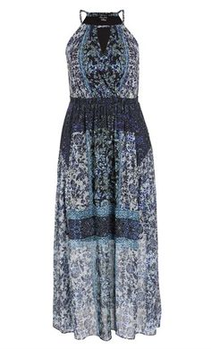 5755fbb97f1b Dive into the fractalesque beauty of the Mosaic Twist Maxi Dress. This  stunning piece is
