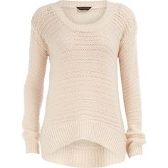 Vanilla tuck stitch jumper ($27) ❤ liked on Polyvore featuring tops, sweaters, shirts, jumpers, blusas, women, jumper shirt, scoop neck top, acrylic sweater and dorothy perkins