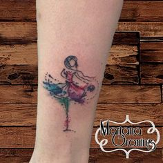 Bailarina de #ballet. #Tatuaje por #marianagroning. Estudio #karmatattoo