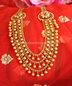 Long Bridal Necklace From Manubhai Jewellers
