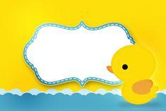 Lindo kit para Chá de Bebê com o Tema Patinho amarelo ou Patinho de borracha, totalmente gratuito!