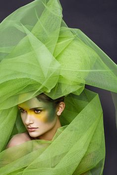 green tulle...