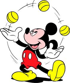 Mickey Mouse a juggling away and he's still got it!