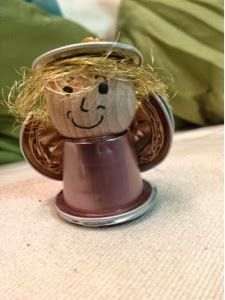 Meine kreative Welt: Engel aus Nespresso - Kapseln