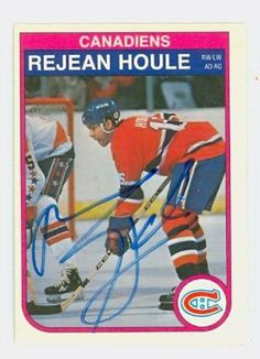 Rejean Houle AUTO 1982 OPC Canadiens by Regular O-PEE-CHEE Issue. $9.00. This card was signed by Rejean Houle and authenticated by JSA - a leading 3rd party authenticator