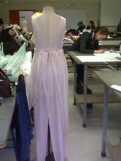 back of dress after draping. #avantgardedress