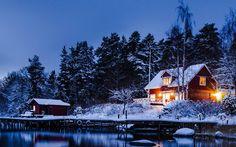 Google+ House Near Water, Cabin, House Styles, Google, Home Decor, Decoration Home, Room Decor, Cabins, Cottage