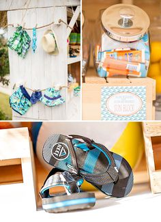 Surfing Themed Baby Shower