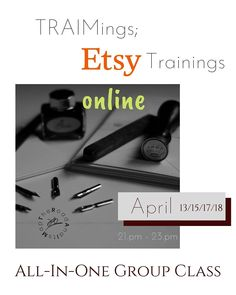 """9 Beğenme, 0 Yorum - Instagram'da The Road And Its Map (@traimings): """"#NewEvent: Online #ETSY All-In-Class Starting in April, 13th at 21.pm To register and to read all…"""""""