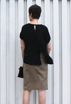 DIY Tutorial Slit Back Lou Box Top   Sew DIY
