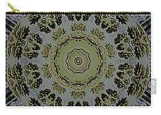 Mandala In Pewter And Gold Carry-all Pouch