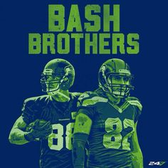 Bash Brothers The Jimmy Graham #88 and Luke Willson #82 Seattle Seahawks TEs