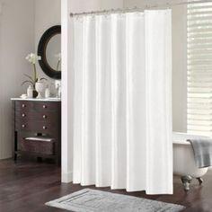 Girls but paint the chevron pattern peach. Chevi Jacquard Chevron 70-Inch x 72-Inch Shower Curtain in White - BedBathandBeyond.com