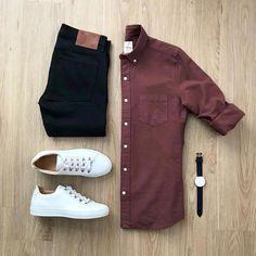 New Style Mens Casual Moda Masculina Ideas Business Casual Men, Men Casual, Casual Jeans, Casual Shirt, Smart Casual, Mode Outfits, Casual Outfits, Casual Attire, Dress Casual